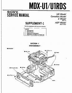 Sony Mdx-u1  Mdx-u1rds Service Manual