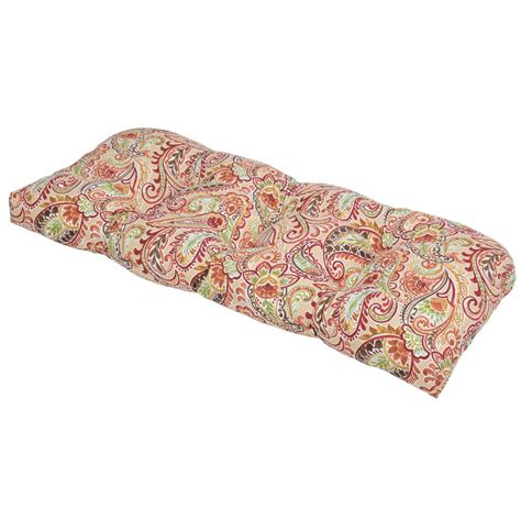 Paisley Settee by Outdoor Cushions Outdoor Furniture The Home Depot