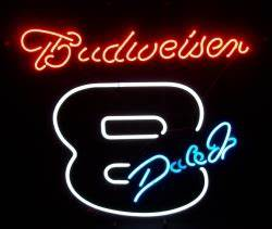 Budweiser NASCAR Dale Jr Neon Beer Bar Sign Light