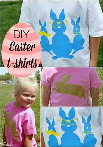 Easter Shirts - DIY tutorial - Our Thrifty Ideas