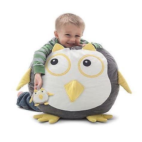 childrens animal bean bag chair oscar the owl bagimals