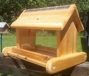rustic large handmade cedar wood square post mount bird