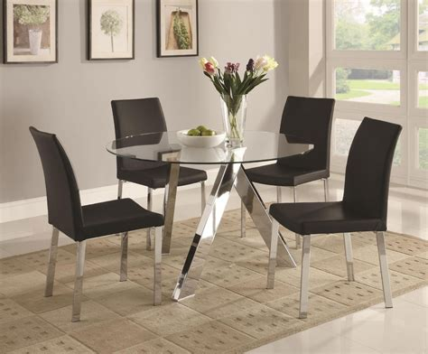 choosing glass dining room tables  small space