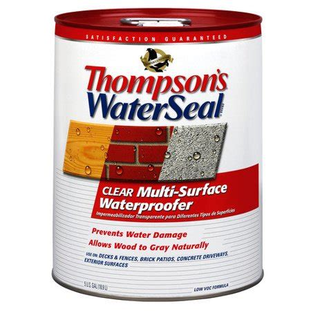 thompsonswaterseal  gallon clear waterseal multi surface
