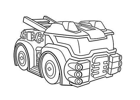 Kleurplaat Rescue Bots Station by Heatwave The Bot Coloring Pages For Printable