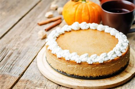 Apr 18, 2021 · this option takes the pumpkin cheesecake up a notch with the addition of a sugary pecan pie layer, chu explains. Pumpkin Cheesecake in Gingersnap Crust - Calorie Control Council