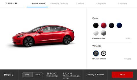 Get Tesla 3 Options List Background