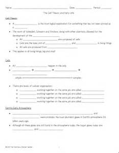 Cell Theory Worksheet Middle School