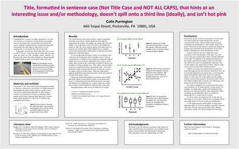 academic poster template what to put in a conference poster colin purrington