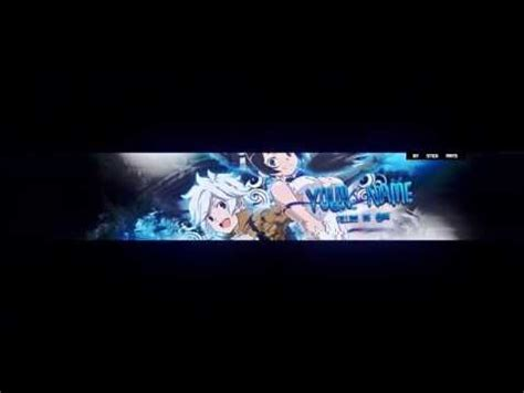 anime youtube banner template