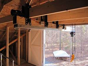 45 best images about hoist to storage area above garage on With barn hoist system