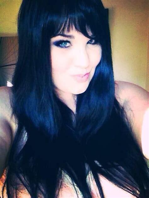 My Blue Black Hair With Bangs Hair Pinterest Hair