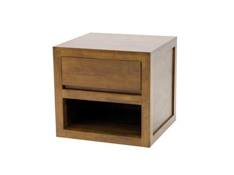 table de chevet oscar en bois de ch 226 taignier 1 tiroir 1 niche meubles bois massif