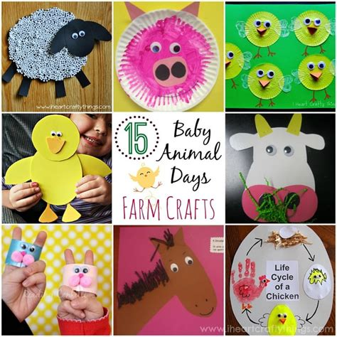 15 baby animal days farm crafts for 700 | 15 Baby Animal Days Farm Crafts 1