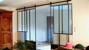 Verriere Interieure Metallique : porte coulissante en m tal type atelier donnez du cachet ~ Premium-room.com Idées de Décoration