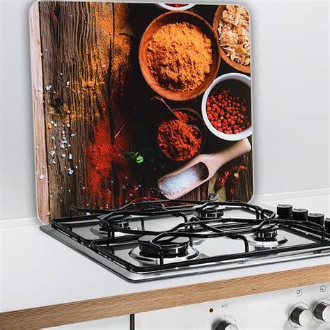 plaque protection murale cuisine protection murale epices protection plaques de cuisson crédence organisation de la cuisine