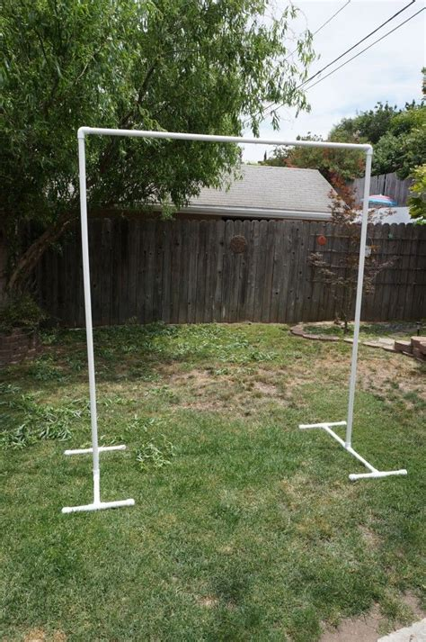 build a standing build your own pvc backdrop for the ceremony use it for