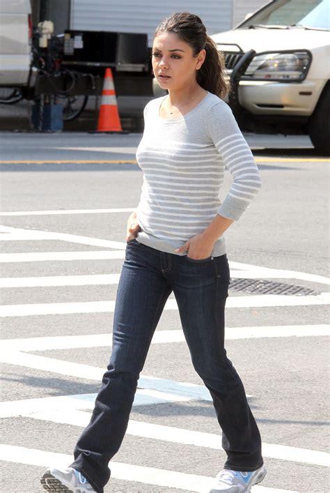 "Mila Kunis  ""the Angriest Man In Brooklyn"" Set In New"