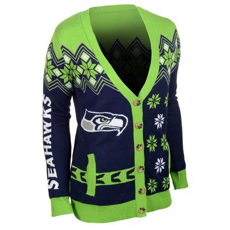 seahawks sweater seattle seahawks nfl 39 s cardigan sweater