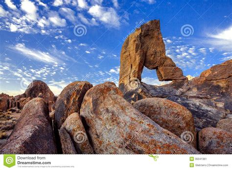 Boot Arch Alabama Hills Stock Image