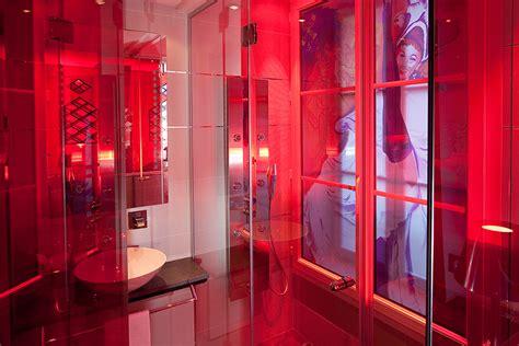 moulin rouge rooms shower hotel design secret de paris