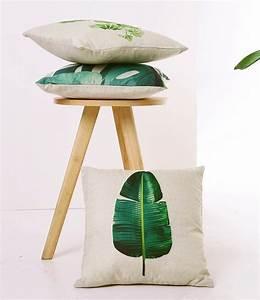 Favorable 45x45cm New Tropical Plant Linen Pillow Case