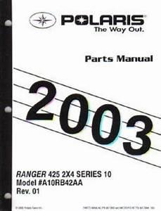 2003 Polaris Ranger Series 10 2 U00d74 Parts Manual