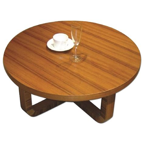 Best of all, this nesting set doubles the amount of surface space, offering plenty of versatility in its use. Mid Century Style Round Coffee Table in Teak Finish ...
