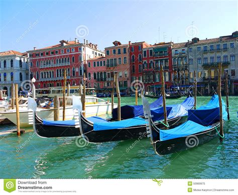 Venice Gondola Or Boat by Gondola Boat In Stock Photo Image 50969975