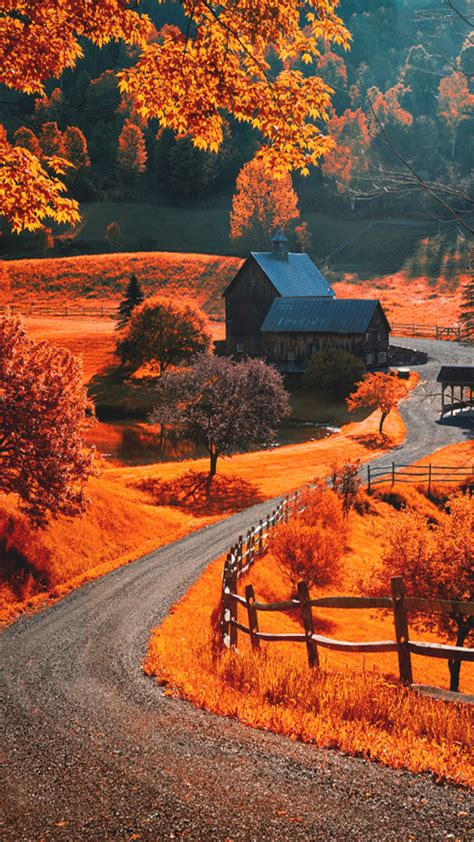 Fall Road Iphone Wallpaper by Autumn Season Apple Iphone 6 Hd Wallpapers