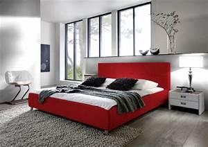 Polsterbett Hohes Kopfteil : sam polsterbett bett zarah in rot 180 x 200 cm chrom farbene f e modernes design farbton ~ Indierocktalk.com Haus und Dekorationen