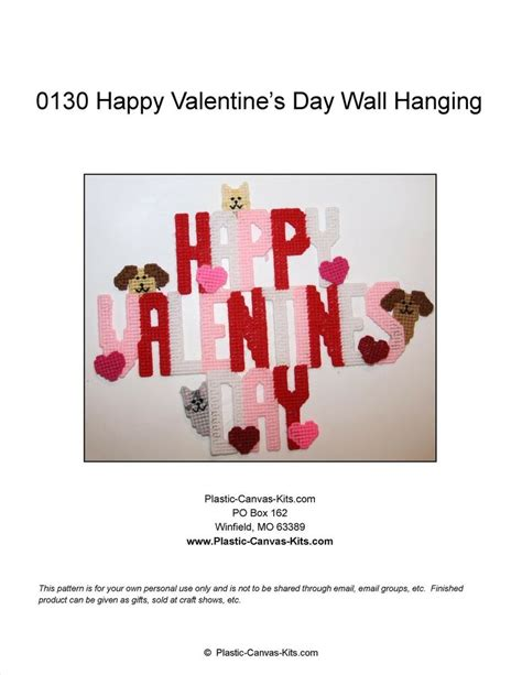 happy valentines day wall hanging dogs  cats plastic
