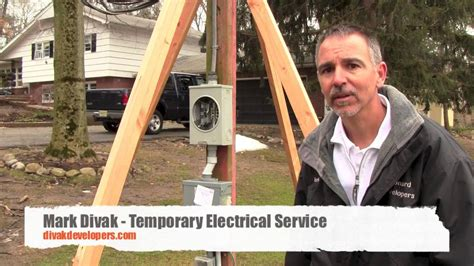 Temp Services by Custom Home Builder Tips Temporary Electrical Service
