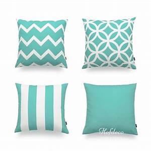 decorative throw pillow case turquoise aqua heavy weight With cheap turquoise decorative pillows