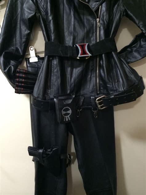 Black Widow Costume Bottom Belt Accessories Are Taken