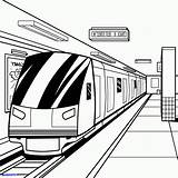 Coloring Pages Subway Train Metro Drawing Printable Getcolorings sketch template