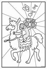Llama Coloring Lama Llamas Crayola Sloth Printable Sloths Boombox Monkey Alpaca Colouring Sheets Ausmalbilder Dibujos Template Dancing Luiaard Printables Colorir sketch template