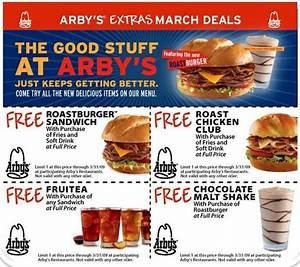 Printable Coupons Without Downloads Get Free Meals From Arby 39 S And Tgi Friday 39 S With These Coupons