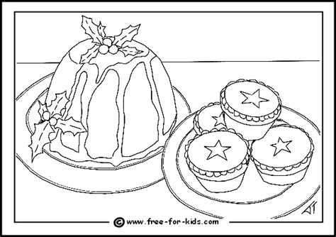 Free Coloring Pages Of Christmas Pudding