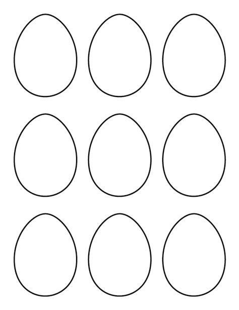 Small Easter Egg Template by Printable Small Egg Pattern Use The Pattern For Crafts