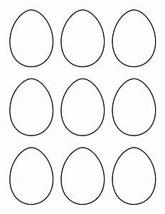 Printable small egg pattern use the pattern for crafts for Small easter egg template