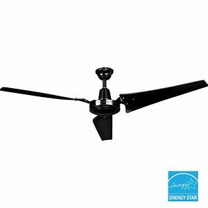 Hampton bay in black industrial ceiling fan