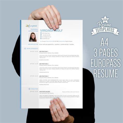 curriculum vitae template europass modern cv design