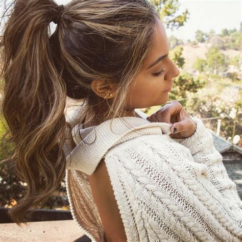 High Top Ponytail Curly Long Hairstyles Highlight
