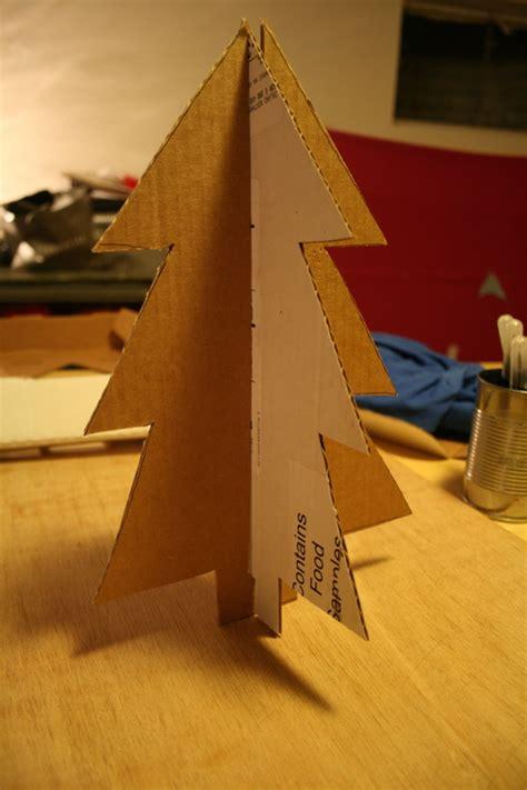 diy cardboard christmas tree  tutorials guide patterns