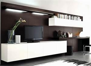 Schrankwand Mit Integriertem Schreibtisch : wohnwand mit integriertem schreibtisch haus design ideen ~ Watch28wear.com Haus und Dekorationen