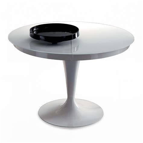 simple table ronde extensible eclipse verre  table