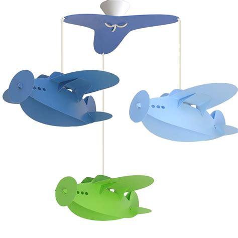 luminaire chambre garcon lustre chambre enfant quot 3 avions quot ciel bleu et anis