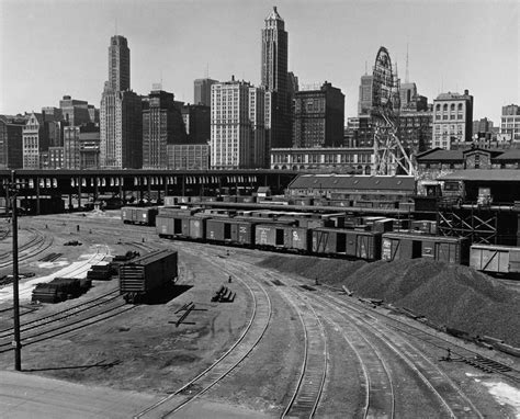 history of millennium park illinois central rail yard in grant park looking west 1952 future home of millennium park and