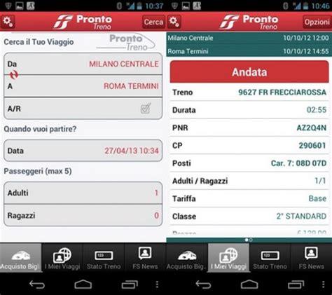 Trenitalia Mobile Orari Treni by Tecnica Prezzi Trenitalia Mobile Prontotreno